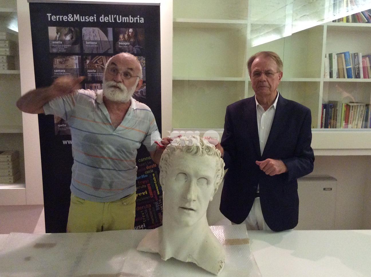 Antonio Canova, mezzo busto ritrovato a Bettona: esposto al Museo della città