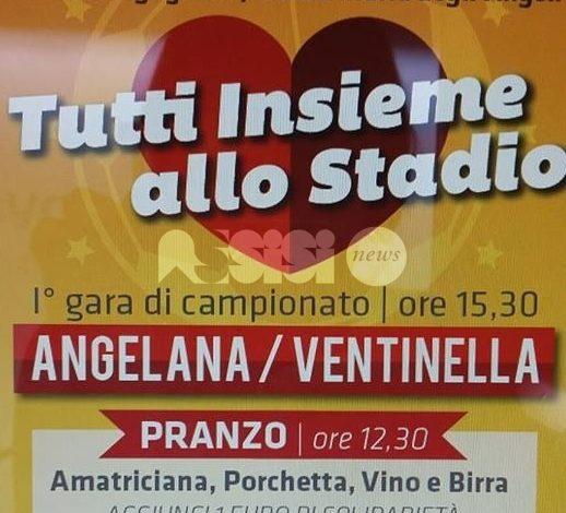 """Angelana calcio: per la prima casalinga di campionato """"Tutti insieme allo Stadio"""""""