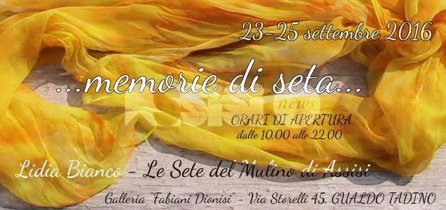 Memorie di seta: la personale di Lidia Bianco in mostra a Gualdo Tadino