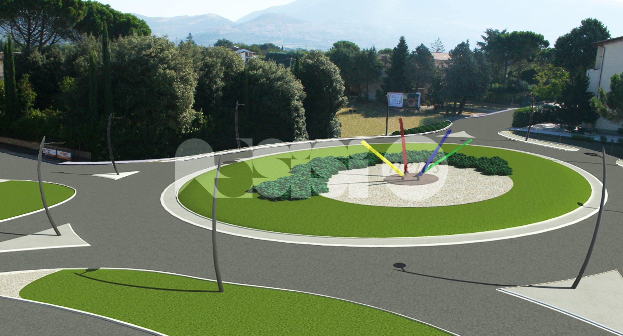 La rotatoria stradale di Bastia Umbra inaugurata il 16 ottobre