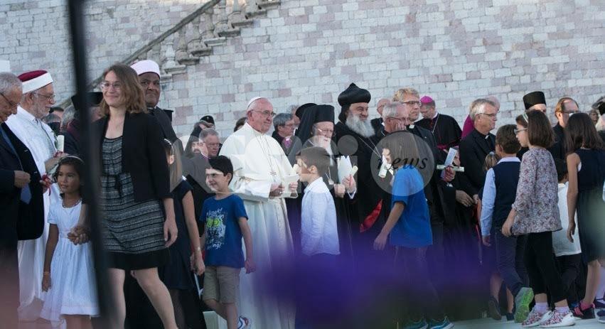 La visita del Papa a Sete di Pace ad Assisi il 20 settembre 2016