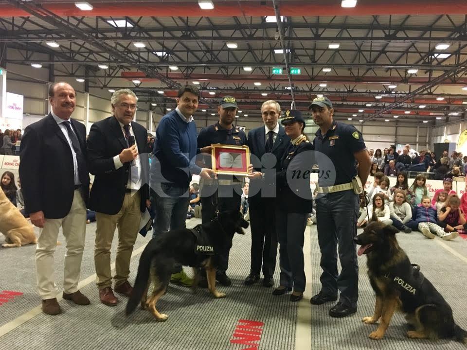 I cani poliziotto eroi del post sisma premiati al Perugia Pet Village 2016