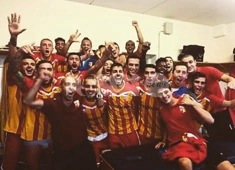 Angelana, è impresa: i giallorossi festeggiano la vittoria a Villabiagio