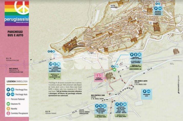 Modifiche al traffico di Assisi in occasione della Marcia della Pace 2016