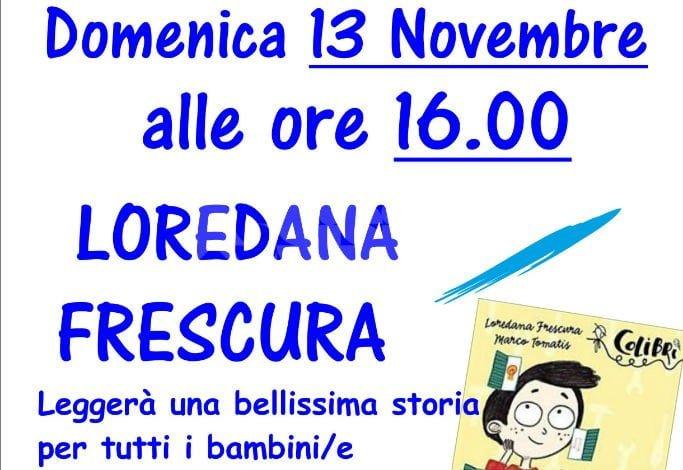 Loredana Frescura domenica 13 novembre alla libreria Mondadori Point