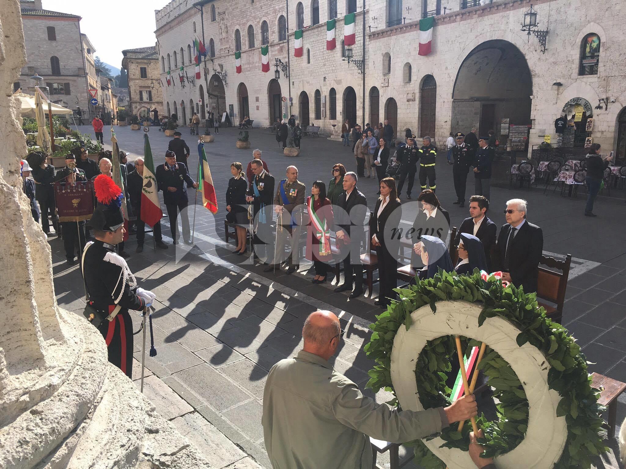 Assisi festeggia la Giornata dell'Unità Nazionale e delle Forze Armate