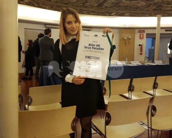 L'assisana Ilaria Bellini vince il concorso L'Abito del terzo Paradiso