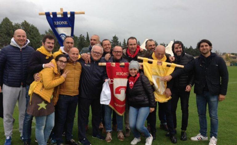 I Rioni de J'angeli premiati da Associazione Ponte Rosso e Angelana Calcio