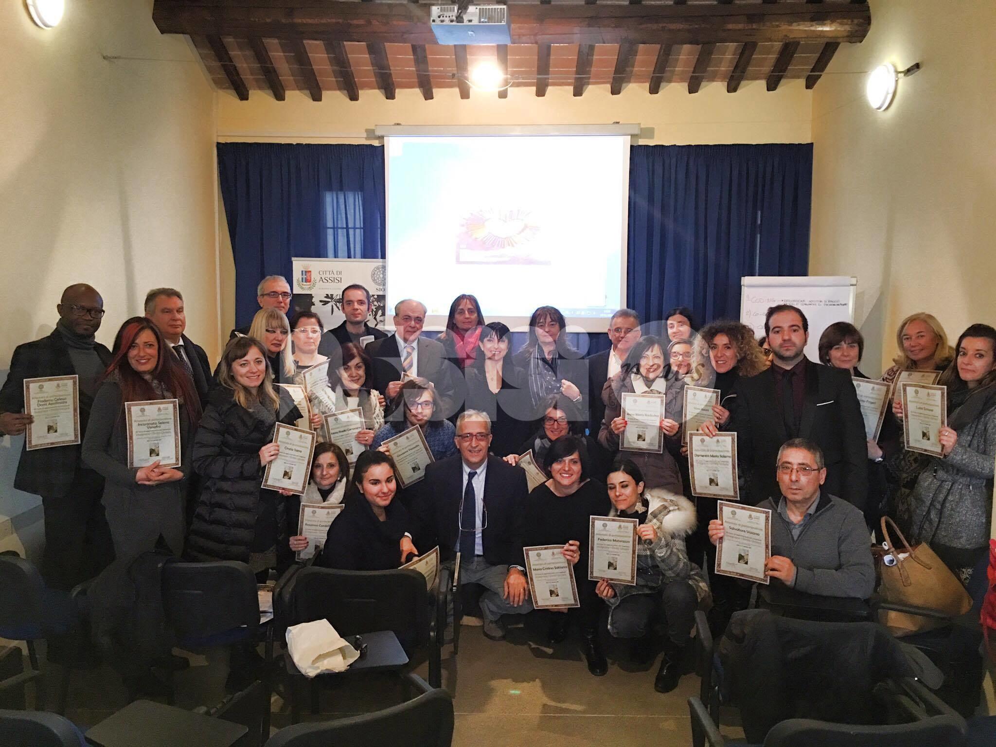 Concluso il corso sui diritti umani: presenti Proietti e Travicelli