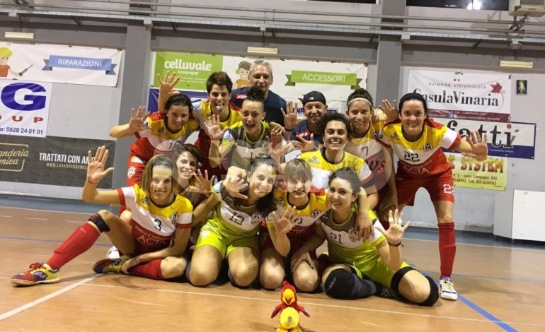 Angelana Calcio a 5 femminile vince la quarta partita consecutiva