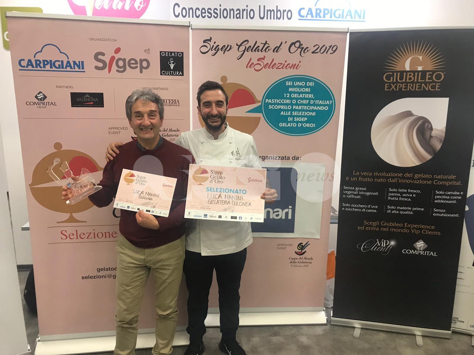 Sigep Gelato d'Oro 2019, Dulcinea Gelateria vince la tappa umbra