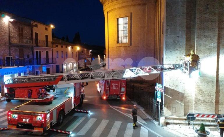 Sciame di api sulla Basilica di Santa Maria: vigili del Fuoco in azione (foto)