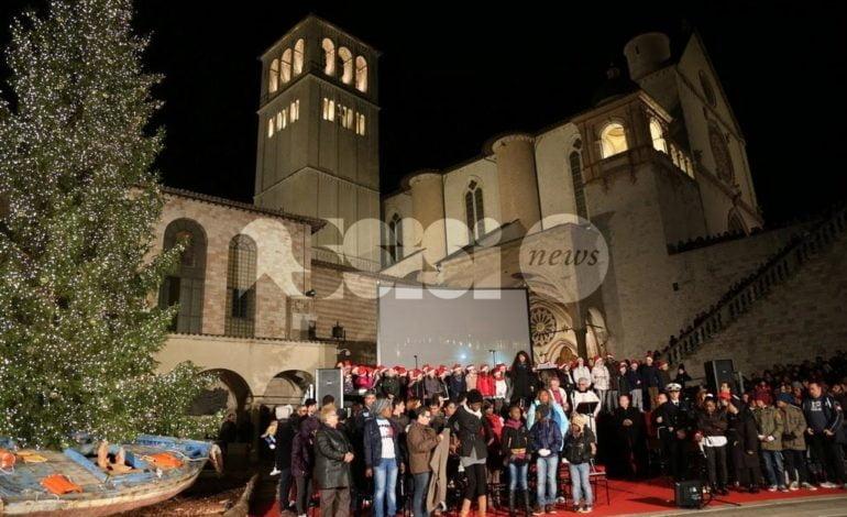 Sacro Convento Assisi, 8 dicembre accensione e benedizione Albero di Natale