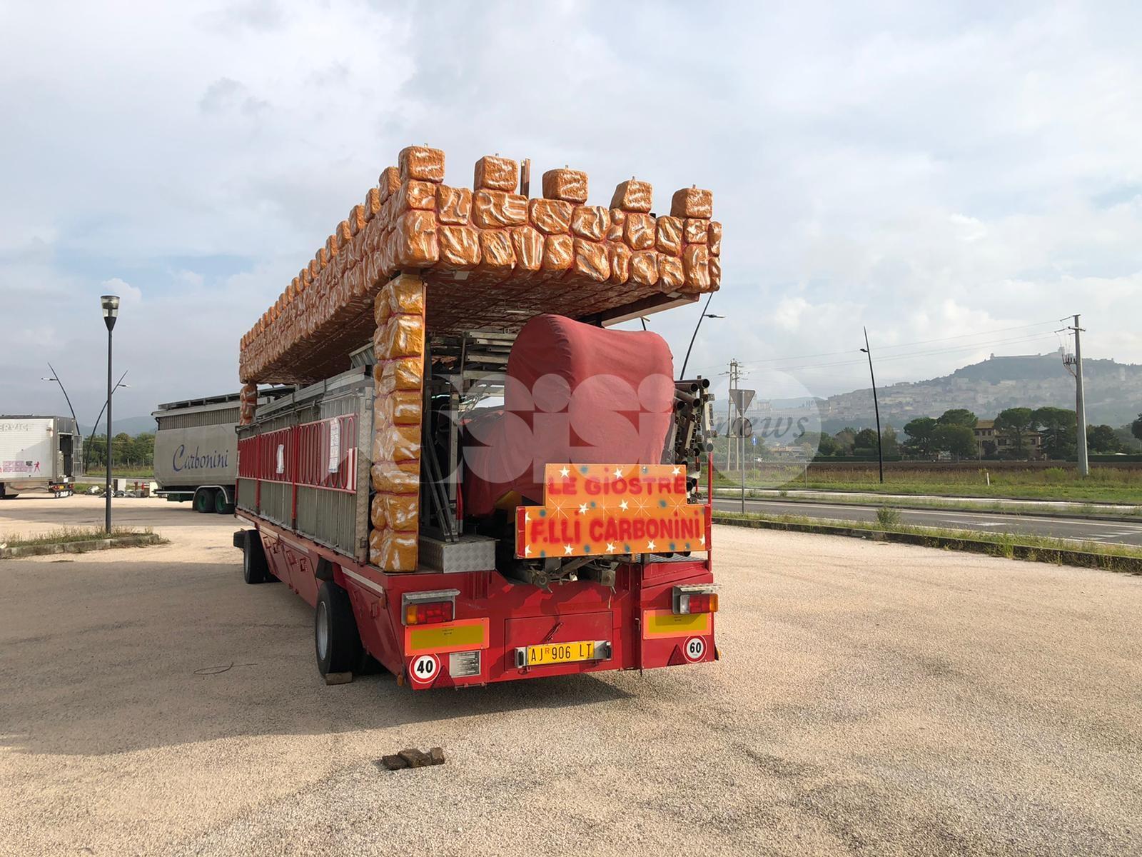 Carrozzelle 2020 ad Assisi in allestimento, si parte il 25 settembre (foto)