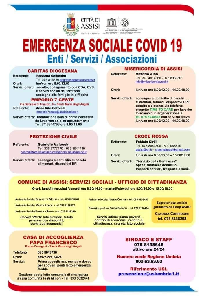 EMERGENZA SOCIALE COVID 19