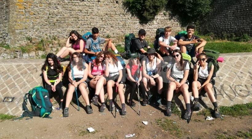 Gli alunni del Liceo Sesto Properzio in pellegrinaggio Assisi-Roma