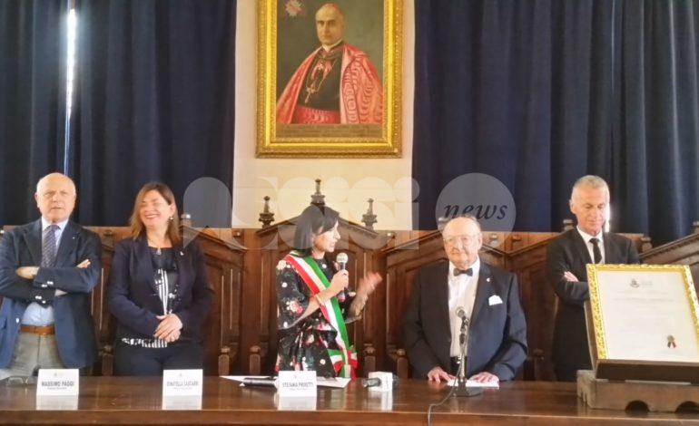 Giovanni Zavarella cittadino benemerito di Assisi: la cerimonia in Comune (foto)