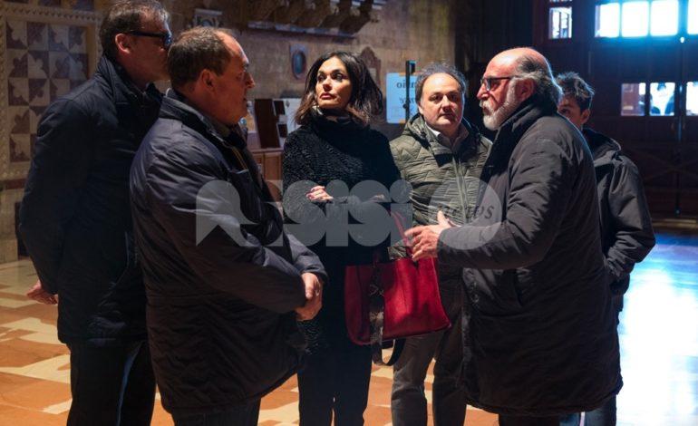 """Maria Grazia Cucinotta visita San Francesco: """"Sono molto emozionata"""" (foto+video)"""