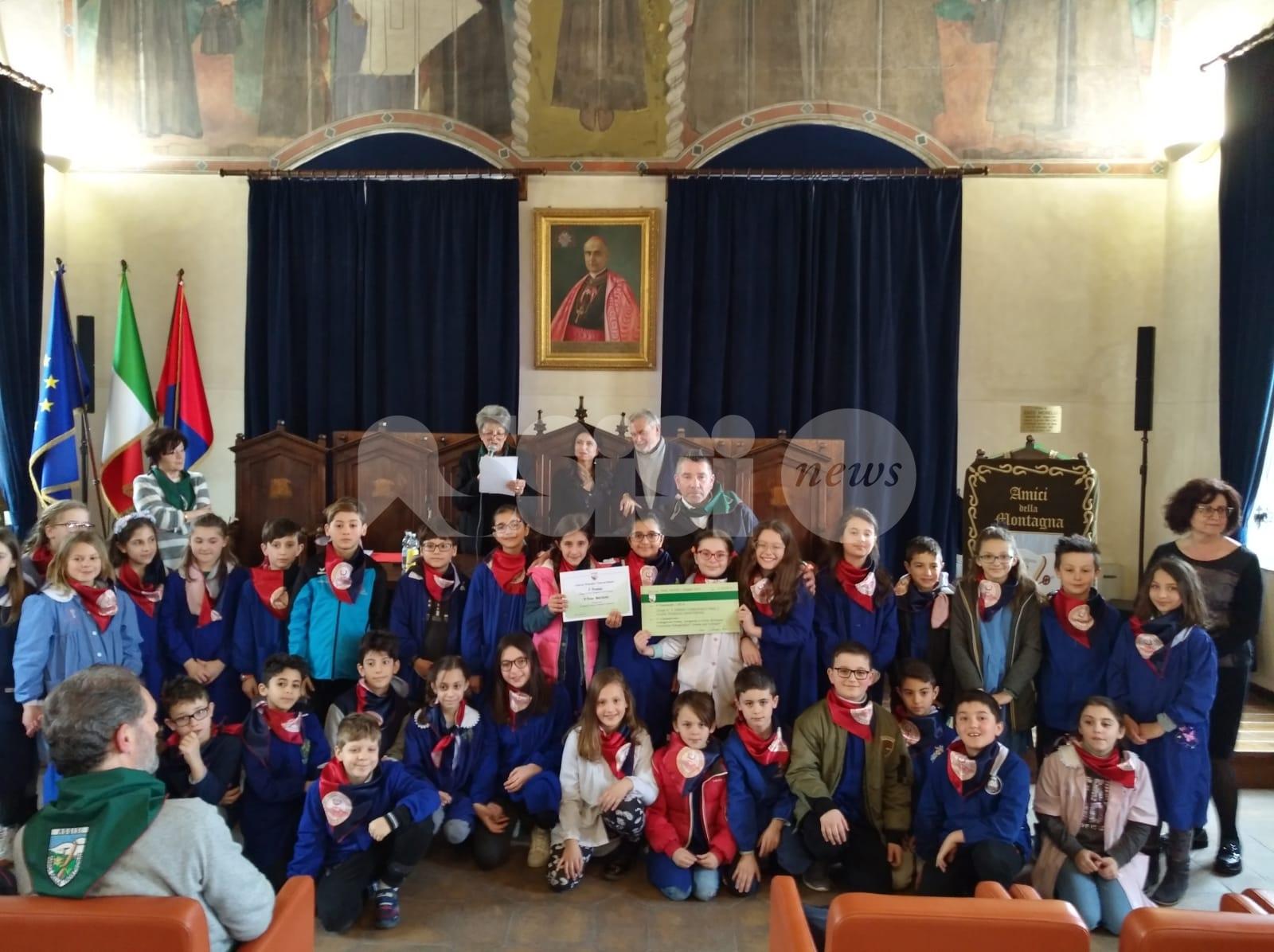Zoom sul Subasio, le classi quarte della Sant'Antonio vincono il concorso degli Amici della Montagna