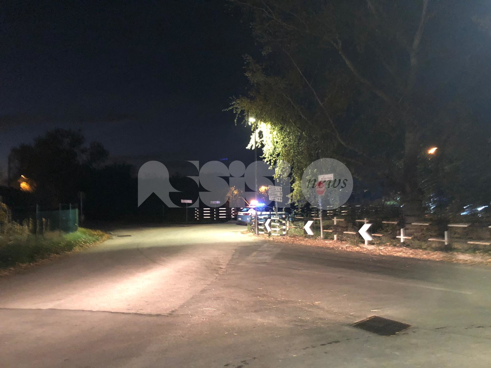 Brutto incidente a Santa Maria degli Angeli in zona percorso verde (foto)