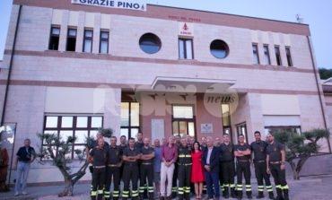 Pino Cupertori va in pensione: il saluto dei vigili del fuoco di Assisi (FOTO)