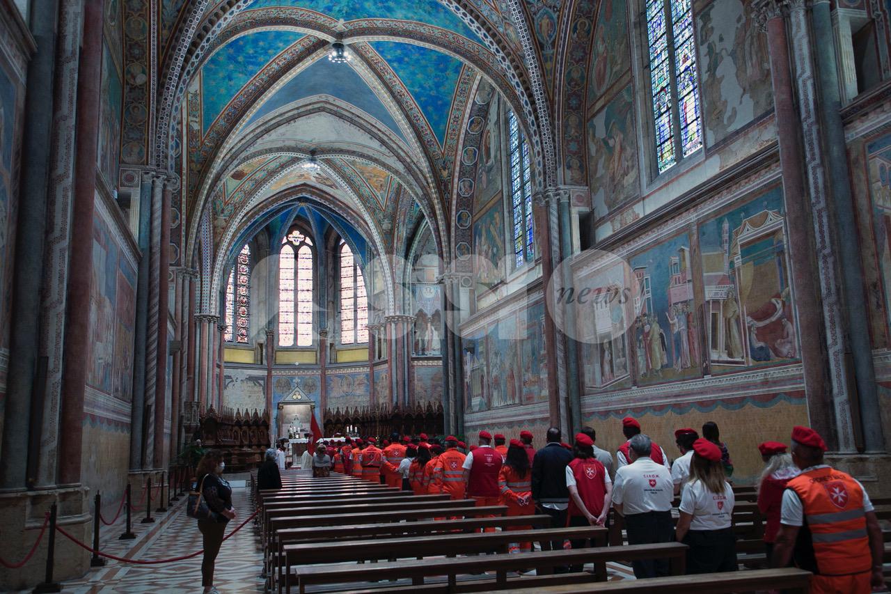 Corpo Italiano di Soccorso dell'Ordine di Malta, messa ad Assisi