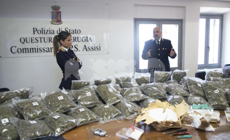Maxi sequestro di droga a Bastia Umbra: trovati 3 kg di cocaina e 30 kg di marijuana (foto+video)