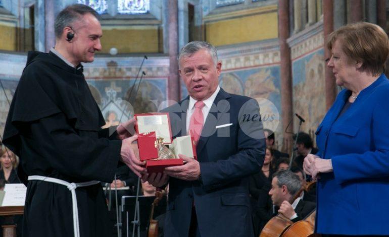 Consegna della lampada della Pace al Re di Giordania, le foto più belle da Assisi