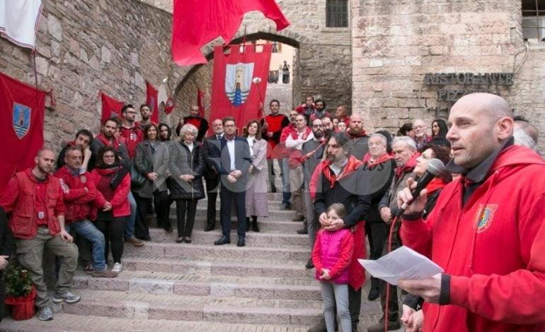 Inaugurata ad Assisi la scalinata dei Fiumi: le foto e il video della cerimonia