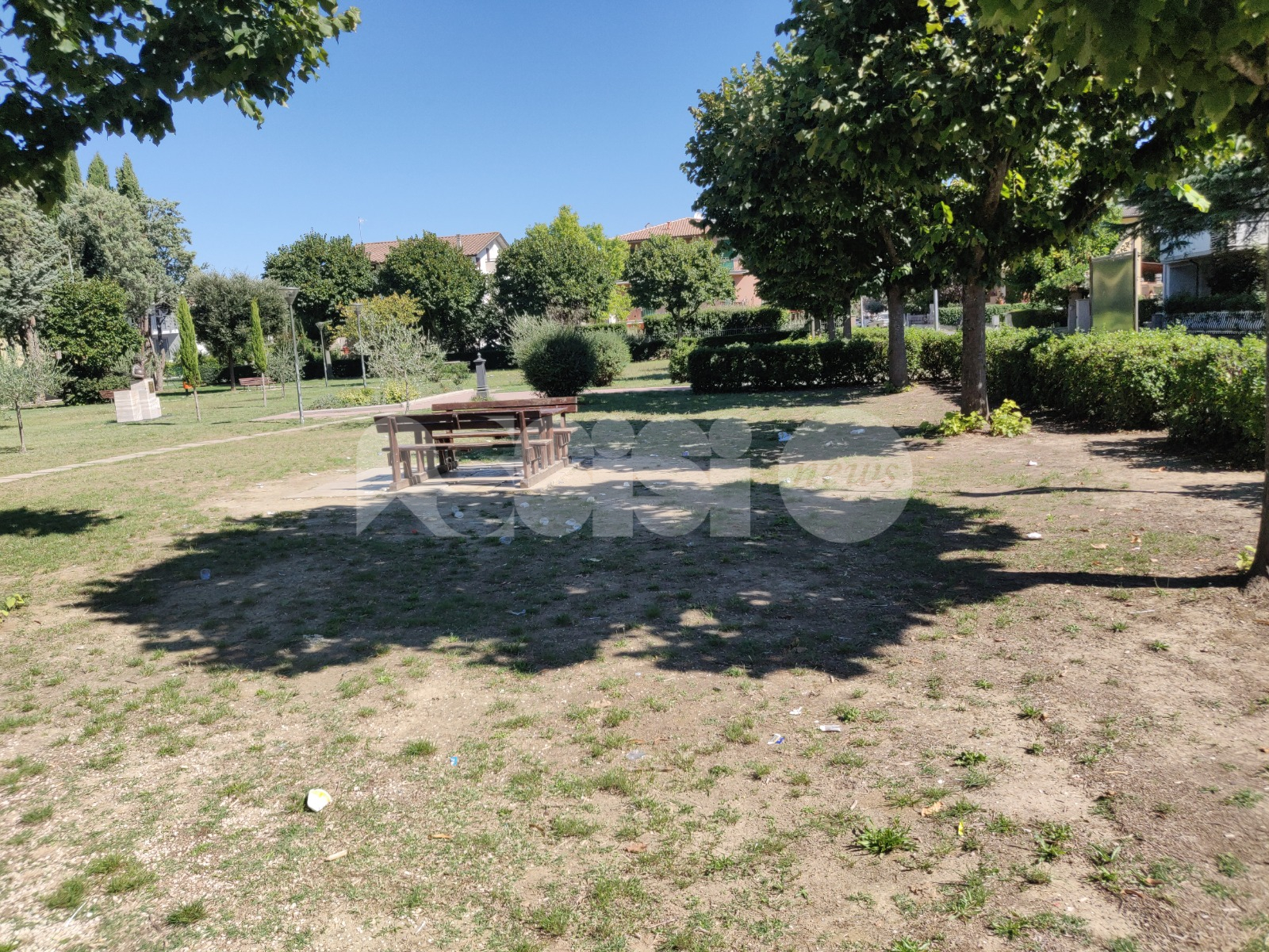 Movida, a Petrignano ne fa le spese il parco: la segnalazione (foto)