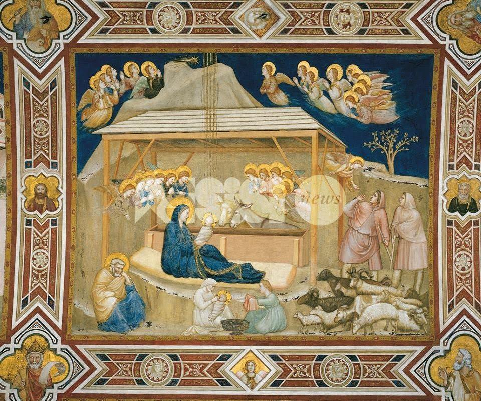 Papa Francesco sceglie la Natività di Giotto per gli auguri natalizi