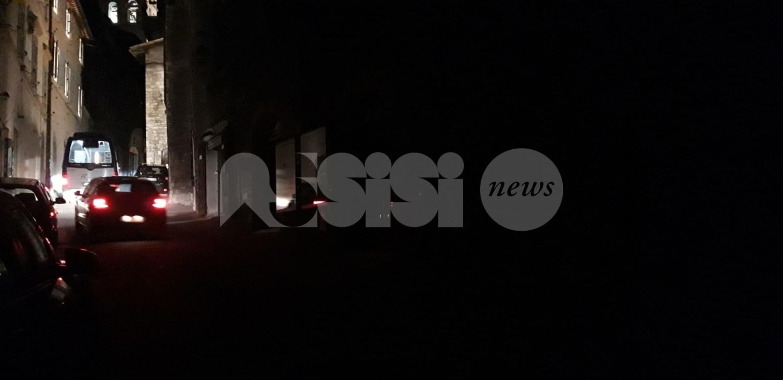 Assisi ancora al buio, problema risolto nella prima serata di sabato 7 marzo