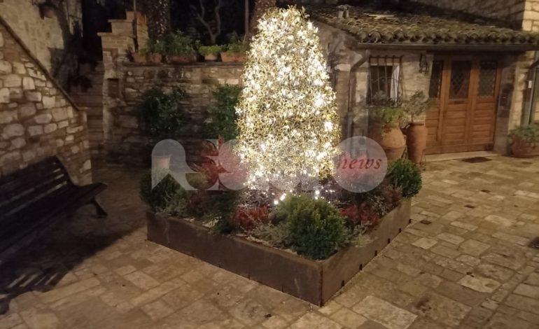 Natale 2020 ad Assisi fai da te, decorazioni realizzate (anche) dai cittadini – foto