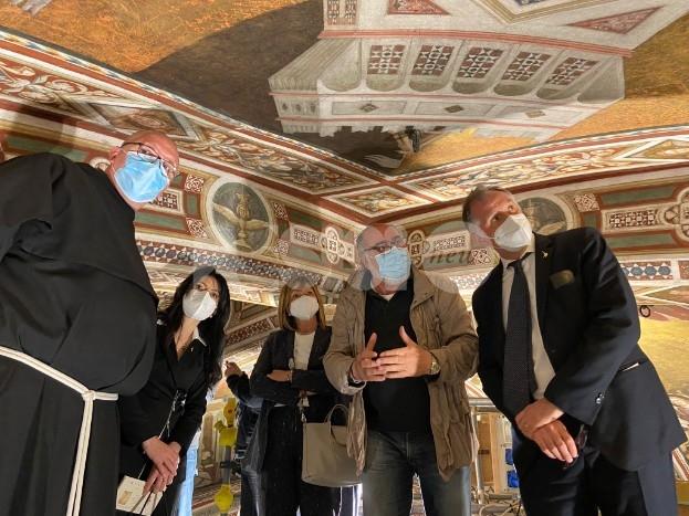 Il ministro Massimo Garavaglia in visita in Umbria: tappa anche ad Assisi (foto-video)