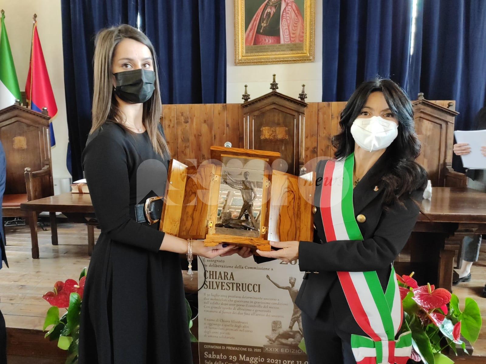 Chiara Silvestrucci ha ricevuto il premio Samaritano 2020 (foto)