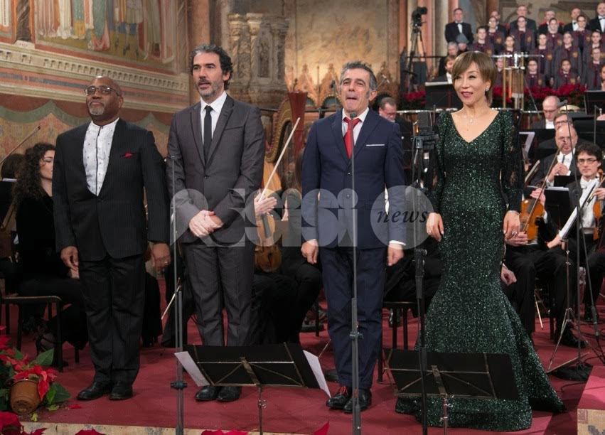 Registrato il concerto di Natale ad Assisi 2017: le foto dalla Basilica di San Francesco