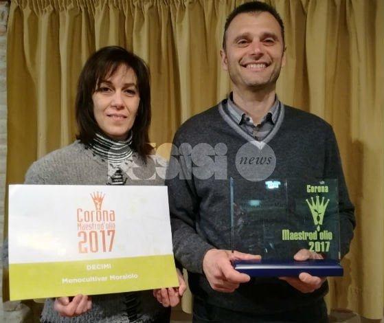 Il Frantoio Decimi di Bettona riceve la Corona Maestro d'Olio 2017