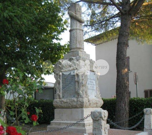 Tordandrea ricorda Guido Sorignani: nuova vita per il monumento ai caduti