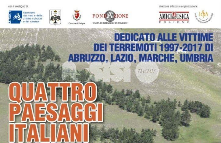 Quattro paesaggi italiani, al concerto presenti anche i Cantori di Assisi