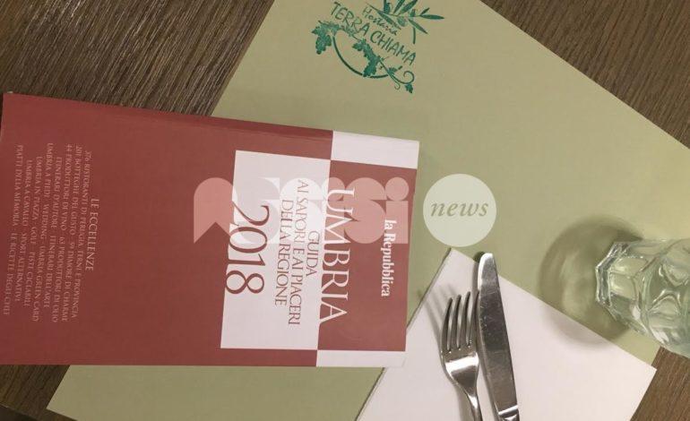 Hostaria Terra Chiama di Assisi nella guida 2018 di Repubblica