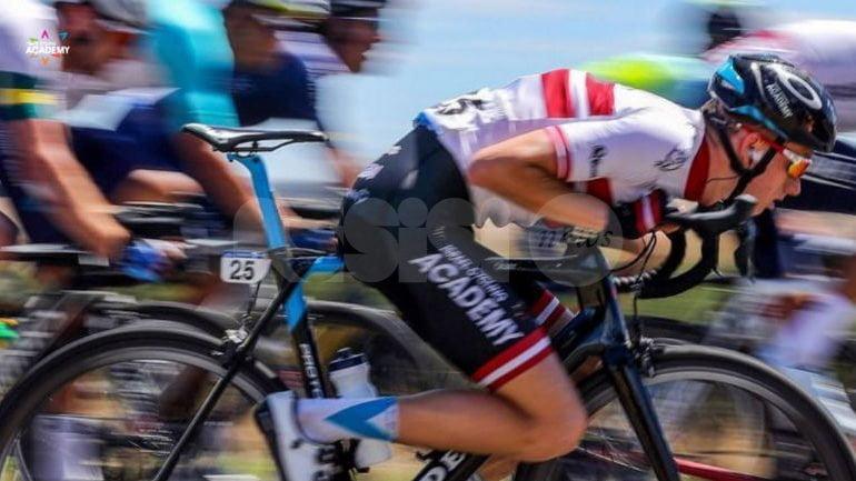 Assisi presenta il Giro d'Italia con Salvatore Puccio e Israel Cycling Academy