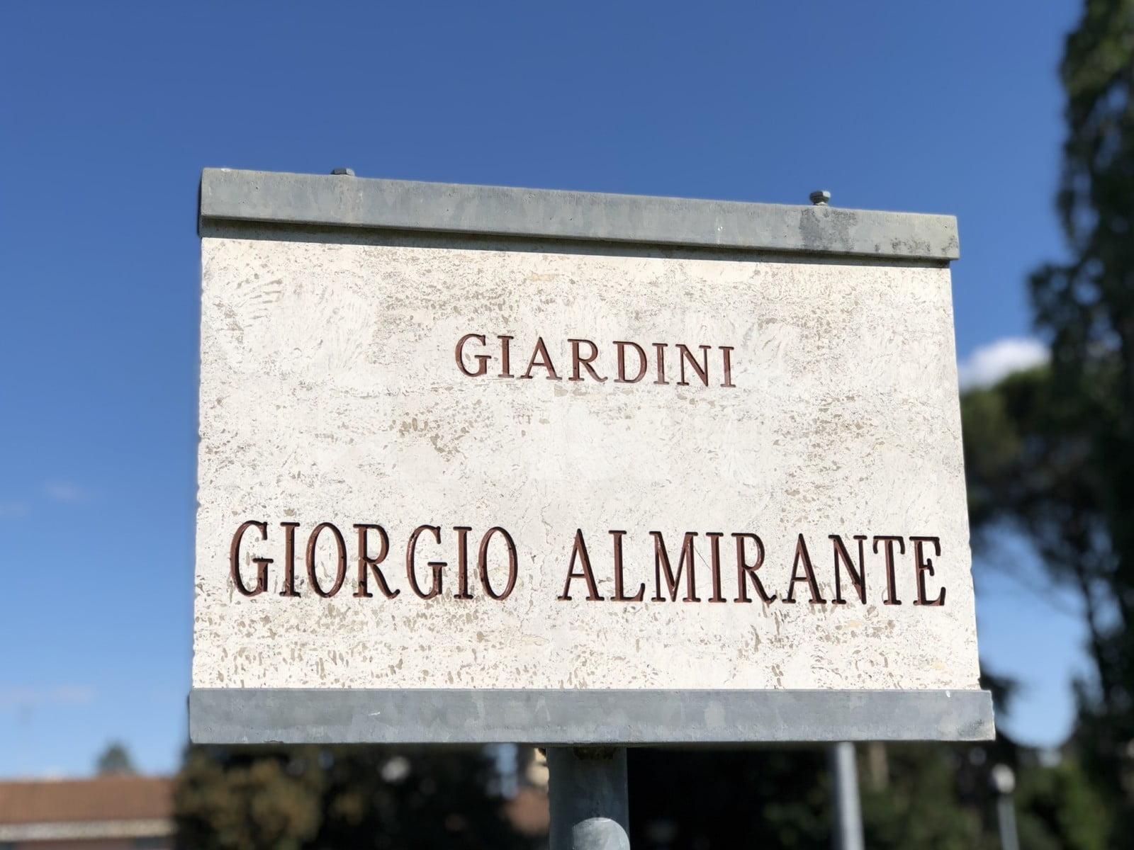 """CasaPound Italia: """"Scelta folle cancellare i giardini Almirante"""""""