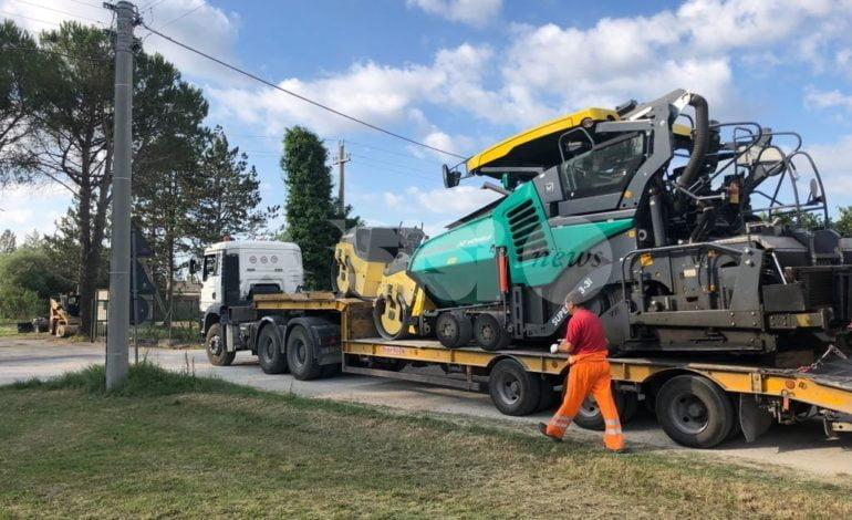 Riqualificazione di via di Bassano a Rivotorto, lavori di catramatura al via