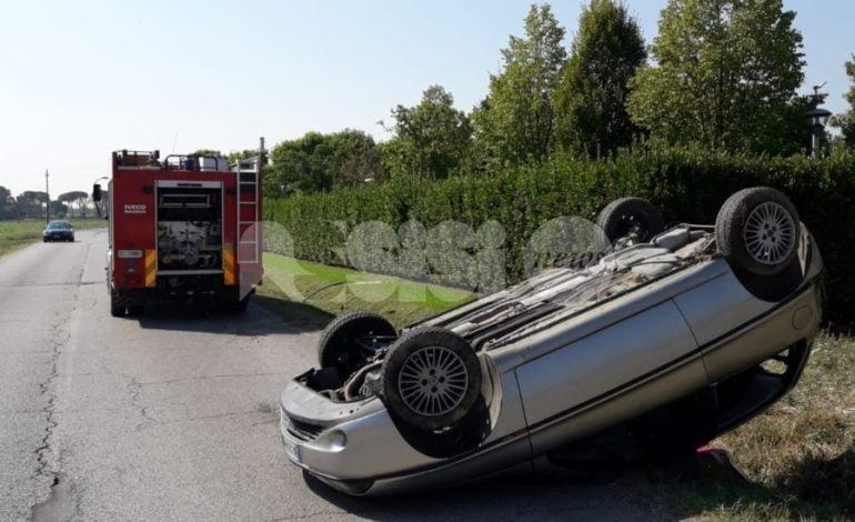 Incidente tra Petrignano e Bastia, un ferito lieve