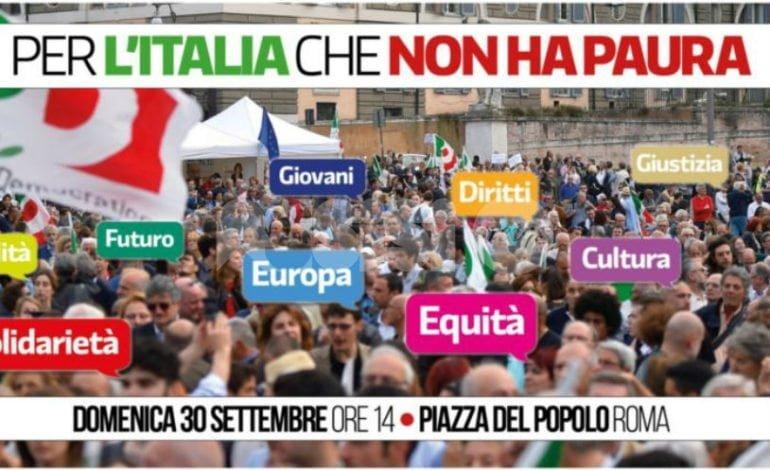 L'Italia che non ha paura, aderisce anche il Pd di Assisi: come partecipare