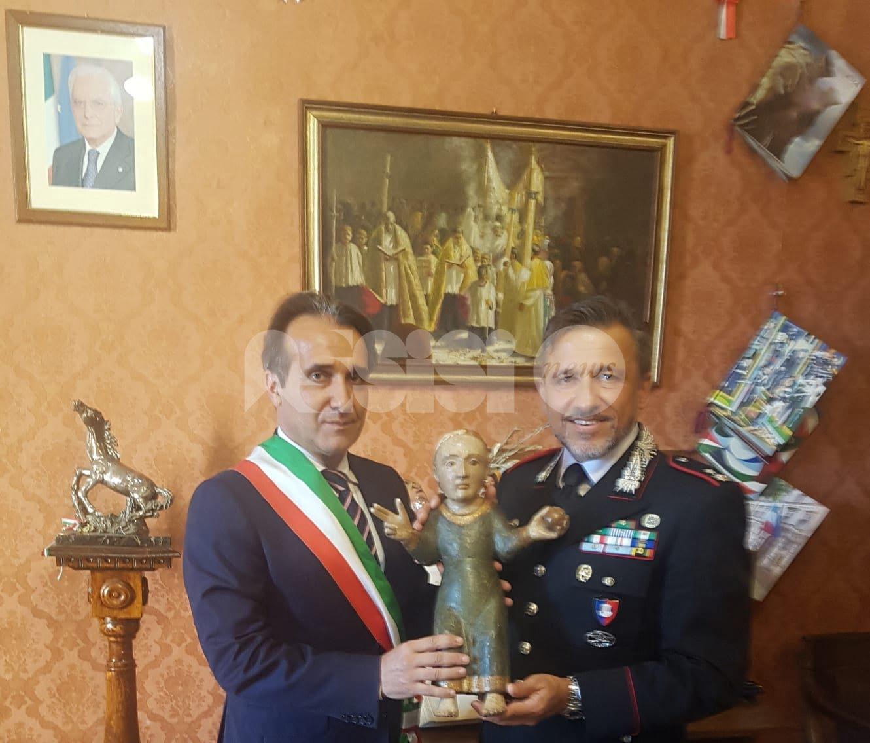"""Torna a Spello il Bambino della preziosa statua lignea """"Madonna in trono"""""""