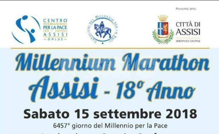 Ad Assisi la Millennium Marathon for Peace 2018 del Centro Pace