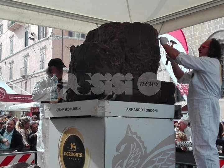 Armando Tordoni e Giampiero Magrini tra gli artisti delle sculture di cioccolato di Eurochocolate 2018