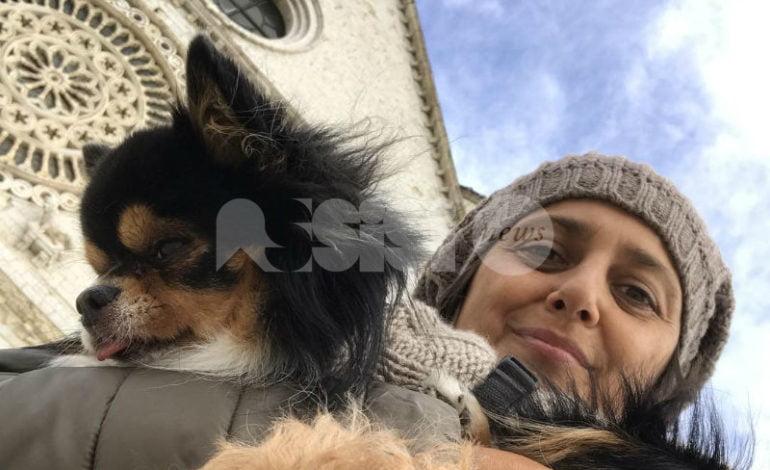 Rosita Celentano in pellegrinaggio da Assisi a Roma per la causa animalista