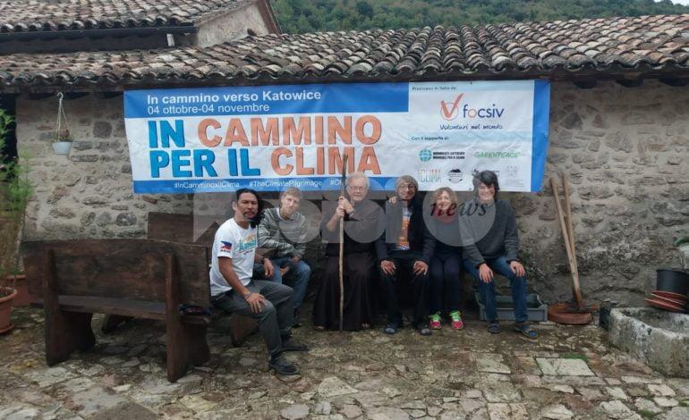 Il pellegrinaggio Roma-Katowice contro i cambiamenti climatici fa tappa ad Assisi